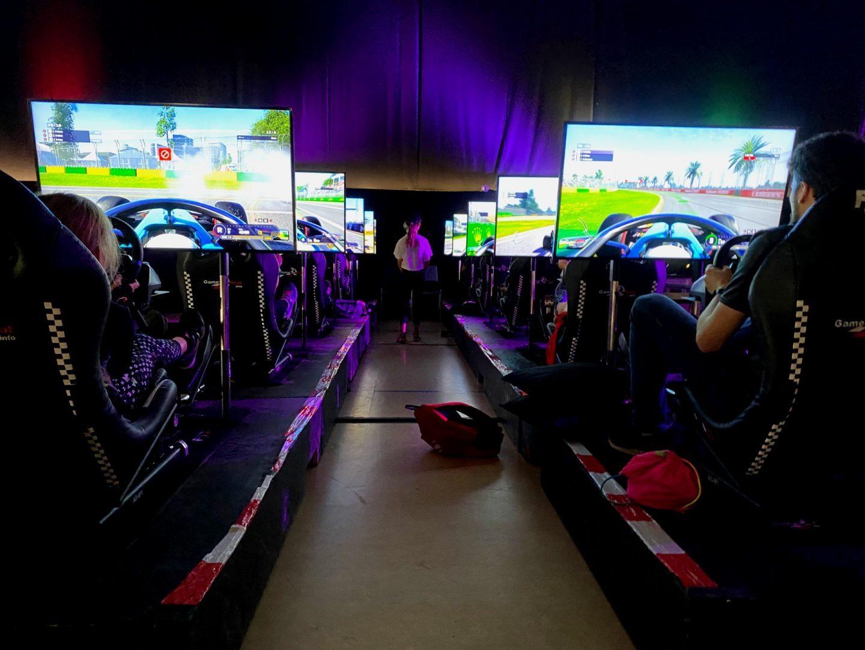 F1 sim racing